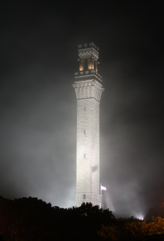 Night View Of Pilgrim Monument in Provincetown