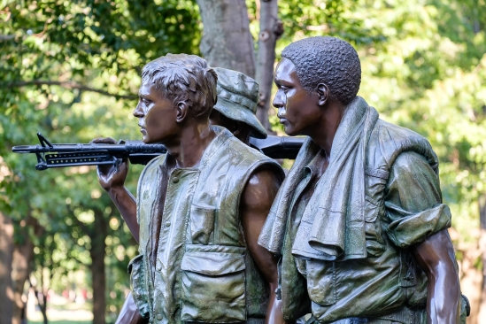 WASHINGTON D.C.,USA - AUGUST 14, 2016 : The Three Soldiers statu