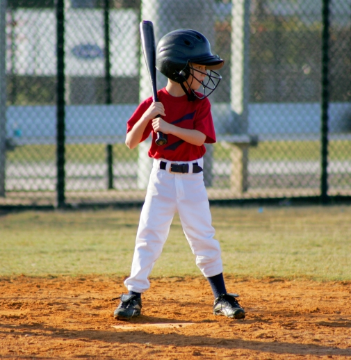 little league batter. ** Note: Slight blurriness, best at smaller sizes